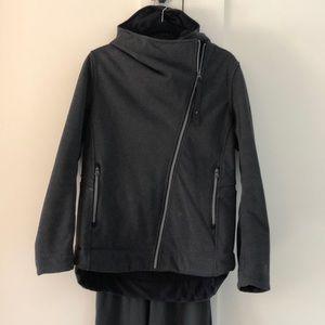 Lululemon asymmetrical hooded fleece Jacket
